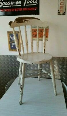 Solid Wood Old Vintage Antique Kitchen Chair