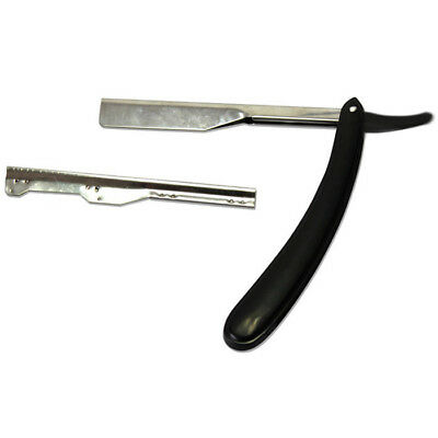 Classic Wooden Handle Manual Shaver Stainless Steel Straight Edge Razor Washable