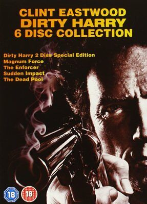 Clint Eastwood Complete Dirty Harry Film Collection 2009 PAL DVD Box Set 6 Discs