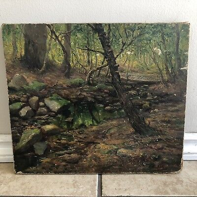 Antique Oil On Canvas By Henry Hammond Ahl