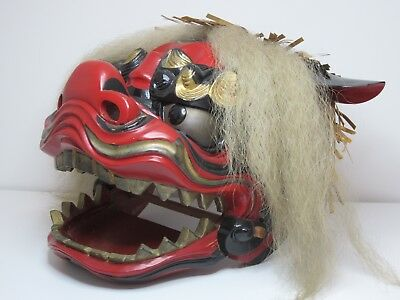 Japanese Lion Shishimai Shishigashira Lion Dance Mask Foo Dog Shishi Lion Mask