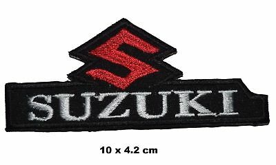 Suzuki Motorcycle Biker Jacket Logo Iron / SEW-on Embroidered Patch / Badge