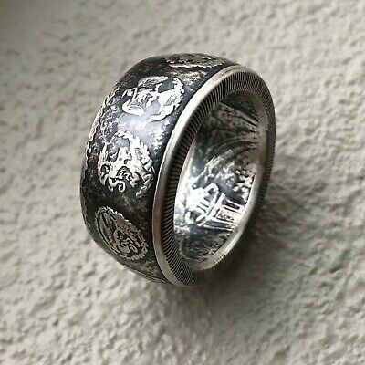 1a30033d0a45 MEXICAN LIBERTAD .999 1 oz Silver Coin Ring -  99.00