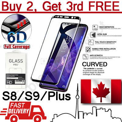 Premium 6D Edge to Edge Full Cover Curved Tempered Glass Screen Protector
