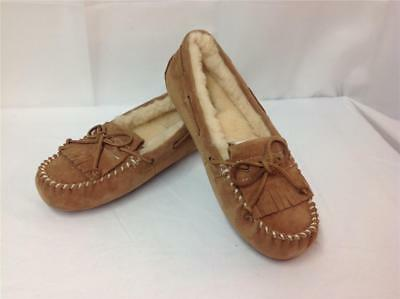 3201f8b7de4 UGG AUSTRALIA MANDIE Moccasin Slippers Size 6 Stout S/N 1003799 ...