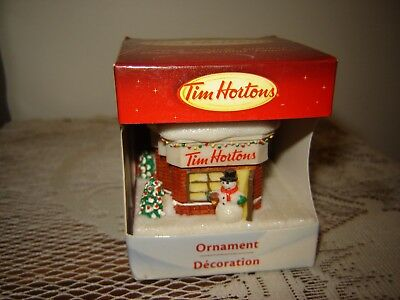 Tim Hortons 2012 Christmas Ornament Snowman Cafe Store Restaurant NEW in Box