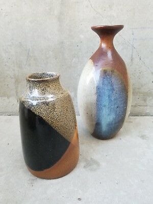 2 Mid Century Weed Pot Vases / Vintage Ceramics / Art Pottery LOT of 2