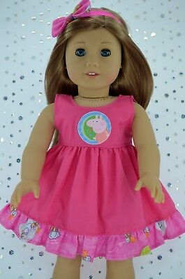 """Doll Clothes For 18"""" American Girl~Our Generation~JourneyHOT PINK DRESS~HEADBAND"""