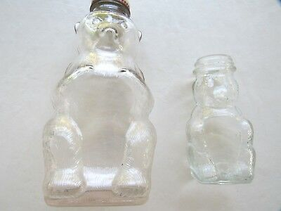 Snow Crest Beverages Bottle Bank. Clear Glass. Large and Small Bears