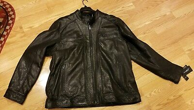 4762436dab7386 New Wilsons Leather Thinsulate Mens Big   Tall Zip Black Leather Size 3XLT