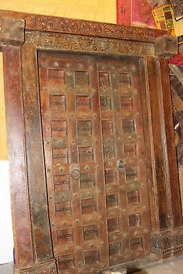 Antique Doors Mandala Carved India Architecture