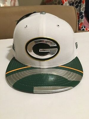 ... inexpensive nwt green bay packers new era 59fifty fitted hat sz 7 nfl  2017 draft day 022cbad70