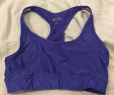 343b858b62 Cascade Sport Size Medium Sports Bra Periwinkle Purple Exercise Athletic