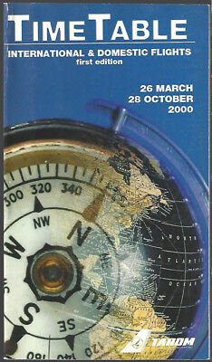Tarom Romanian Air Transport system timetable 3/26/00 [8081]