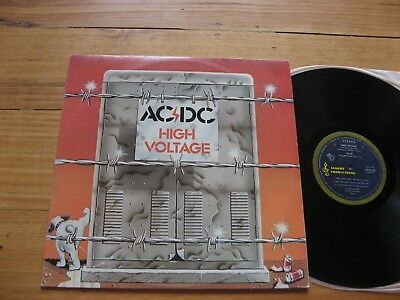 AC/DC High Voltage - EX+ 1ST PRESS Aussie BLUE ROO LP -BROONZY SLEEVE AND LABELS