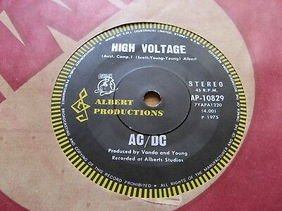 "AC/DC - High Voltage - EX+ ORIGINAL OZ 7"" - ALBERT ROO LABEL - Australia -1975"