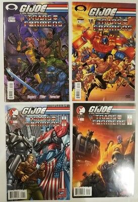 G.I.Joe vs. Transformers Lot!! Image and DDP Comics, 2003 series, NM lot!!
