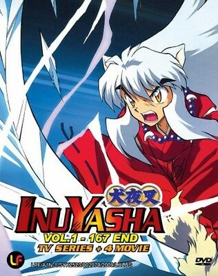 INUYASHA Box Set | TV+Movies | Eps.1-167+4 | English Subs | 8 DVDs (YD0509)