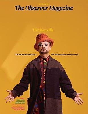 Uk Observer Magazine Boy George Cover Story - October 28 2018
