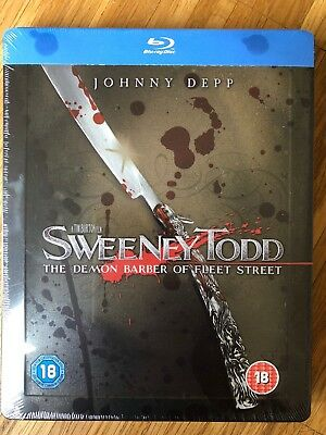Blu-ray Steelbook *NEW Sealed* Very Rare Sweeney Todd Embossed