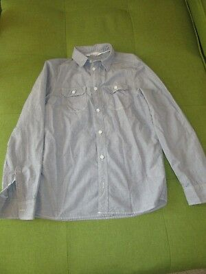 H&M boys blue  long sleeve shirt size 12-13 yrs