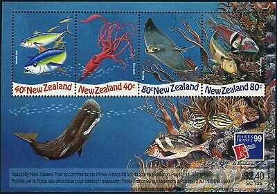 1990 - 1999  New Zealand Miniature Sheets Unmounted Mint & Used
