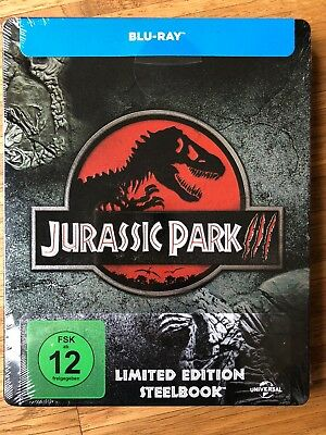 Blu-ray Steelbook *NEW Sealed* Very Rare Jurassic Park III Embossed