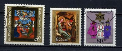 Germany - BRD : X-Mas stamps from 1981, 1982 and 1983 - used