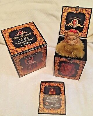 """Wizard of Oz """" Cowardly Lion """" Musical Jack in the Box by Enesco"""