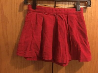 Girls Gap Red Cord Skirt Size 7