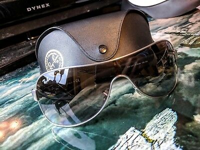35b84c33af Ray Ban RB 3471 029 13 Gunmetal Shield Sunglasses Brown Gradient Lens with  Case