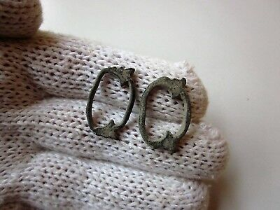 Lot of 2 engraved CELTIC BRONZE PROTO MONEY RING.
