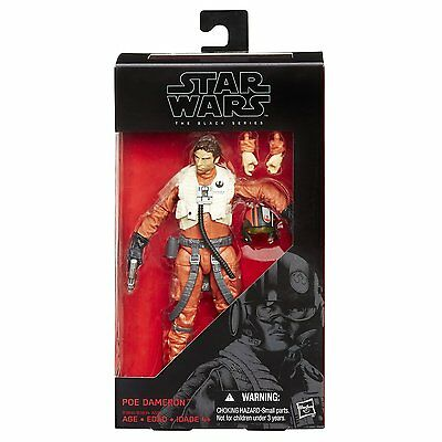 Star Wars: The Force Awakens Black Series 6 Inch Poe Dameron Action Figure