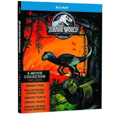 Jurassic World 5-Movie Collection Blu-Ray New Sealed 5-Disk Set Dinosaurs T-Rex