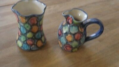 Crail pottery small vase and jug excellent condition