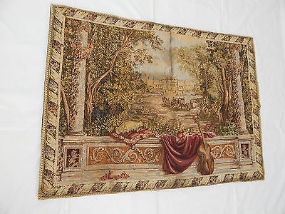 Vintage French Beautiful  Scene Tapestry 107x79cm T413