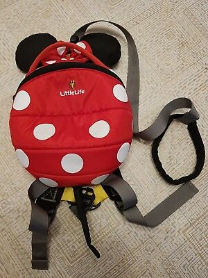 336c29e322 LITTLELIFE DISNEY PINK Minnie Mouse Toddler Backpack with Rein ...