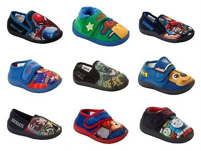 Boys Official Branded Character Novelty Slippers Infants Kids Uk Size 4-3