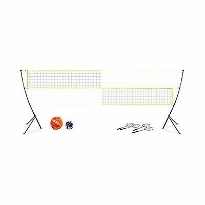 EastPoint Sports Easy Setup Portable Volleyball Badminton Net Set