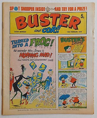 BUSTER and COR Comic - 15th February 1975