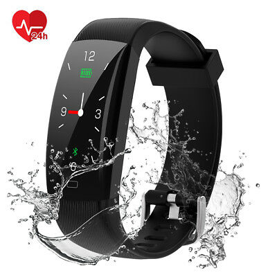 Smartwatch Bluetooth Smart Armband Pulsmesser Schrittzähler Fitness Tracker IP68