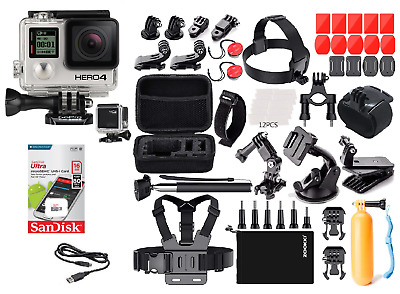 GoPro HERO4 Black + Carry Case W/ Sports Accessory Kit Bundle (40+ PCS)
