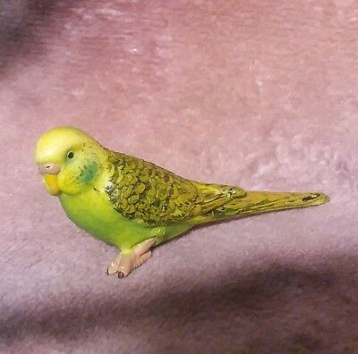 Schleich Green Parakeet Figure - Bird Animal Budgie Replica Toy - 2002