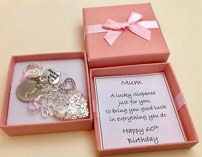 60th BIRTHDAY GIFT LUCKY SIXPENCE LOCKET PERSONALISED In A Gift Box 1958 COIN
