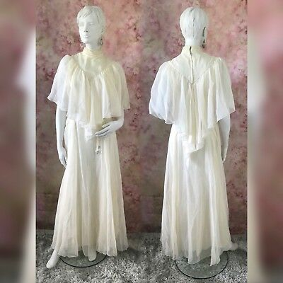 Vintage Style  Ivory Wedding Dress Size Uk 14  (Pls Read The Description )