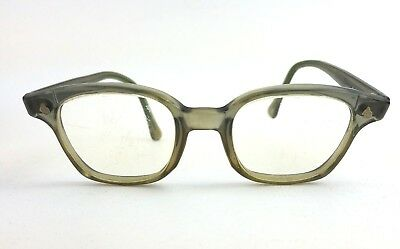 Vtg AO American Optical Safety Glasses Flex Fit Z Horn Rim Lenses Need Replaced