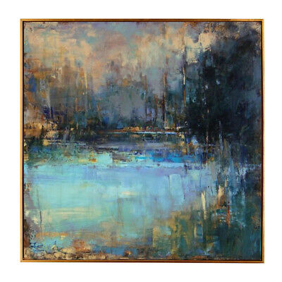 YA1012 Pure Hand-painted abstract Retro oil painting Color art Scenery on canvas