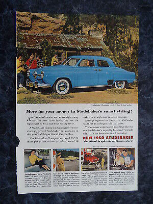 """Studebaker - """" More for your money """" Vintage Ad of 1950's #14"""