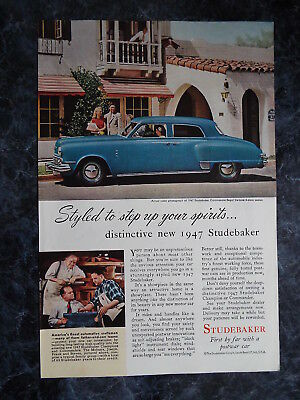 """Studebaker - """" Styled to step up your spirits """" Vintage Ad of 1946 #38"""