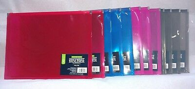 New lot of 12pcs Waterproof Poly Zip Envelope,Zipper File/Document Holders